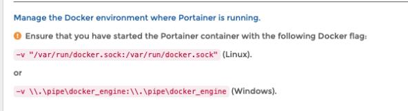 portainer 点击 connect 报错:Failure Cannot connect to the Docker daemon at unix:///var/run/docker.sock.
