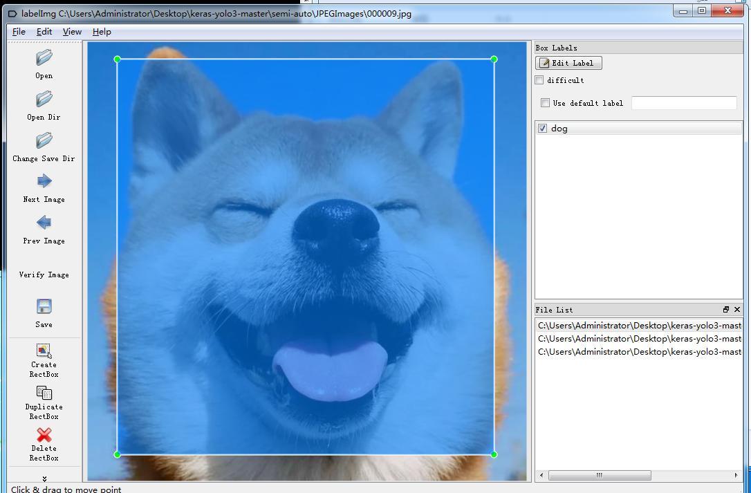 基于yolo3的图像半自动打标