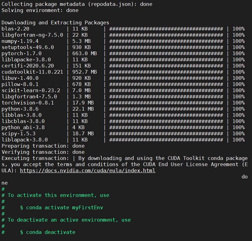 深度学习入门:在Linux服务器上建立虚拟环境